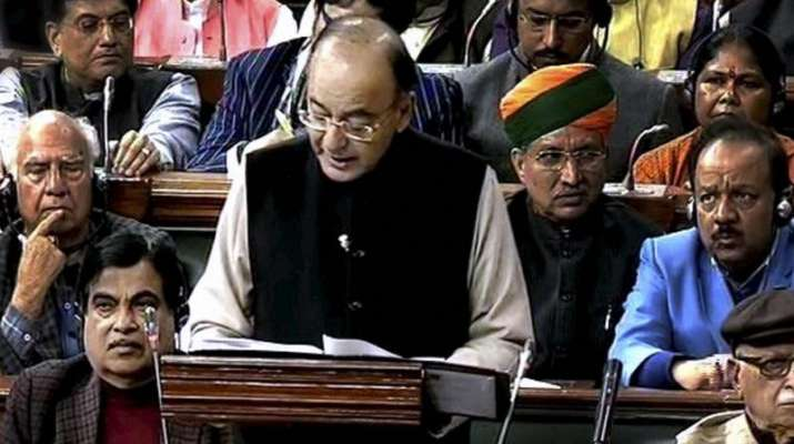 India Tv - File photo-Finance Minister Arun Jaitley tabling the Union Budget for 2017-18 in the Parliament in New Delhi.