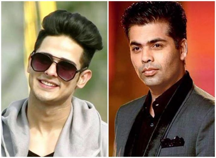 Bigg Boss 11's Priyank Sharma with Karan Johar at Shah Rukh