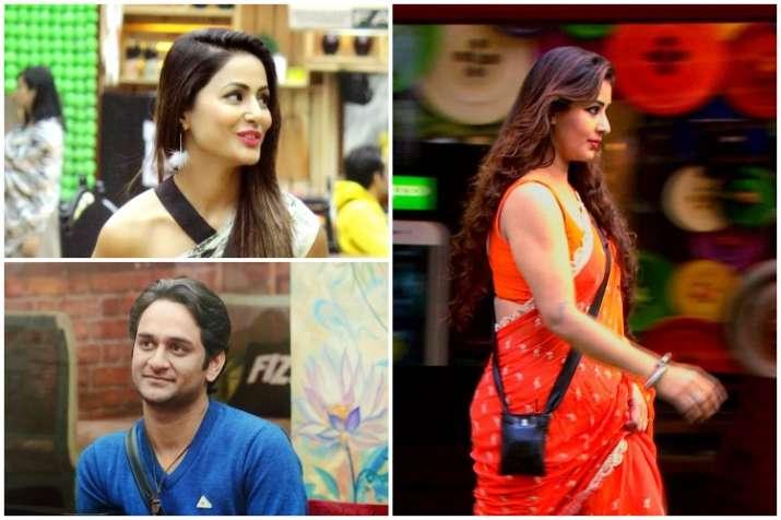 Shilpa Shinde, Vikas Gupta, Hina Khan, Bigg Boss 11