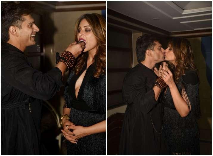 Bipasha Basu and Karan Singh Grover romantic moment on her