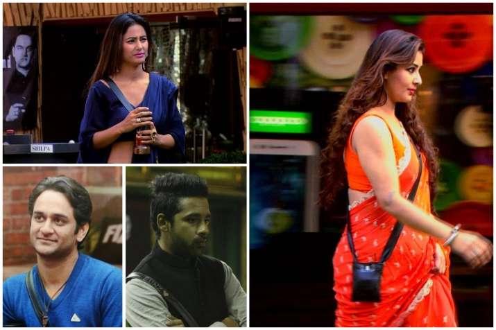 Shilpa Shinde, Hina Khan, Vikas Gupta, Puneesh Sharma, Bigg