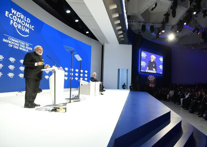 PM Modi have opening keynote address at WEF 2018 Summit in
