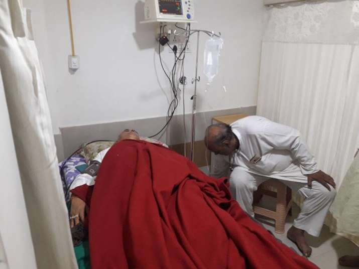 India TV exclusive pic- 'Missing' VHP leader Pravin Togadia found unconscious on a curb in Ahmedabad
