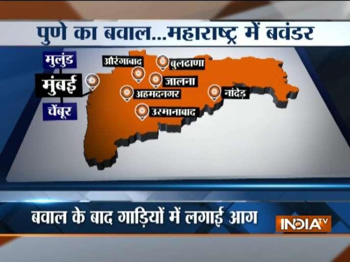 Maharashtra violence over Pune clashes LIVE Updates