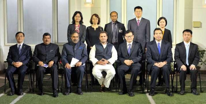 Congress president Rahul Gandhi meets delegation of