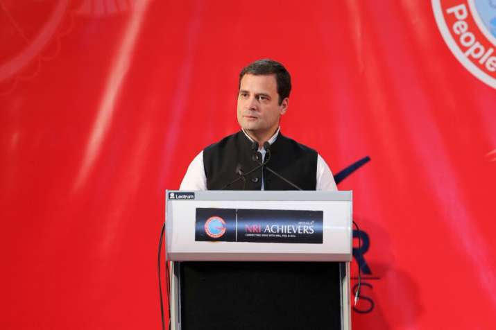 Rahul Gandhi during an interaction with the NRIs in Bahrain
