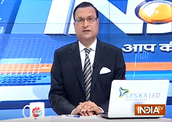 India TV chairman and editor-in-chief Rajat Sharma