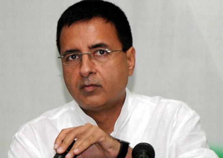 File pic of Congress spokesperson Randeep Surjewala