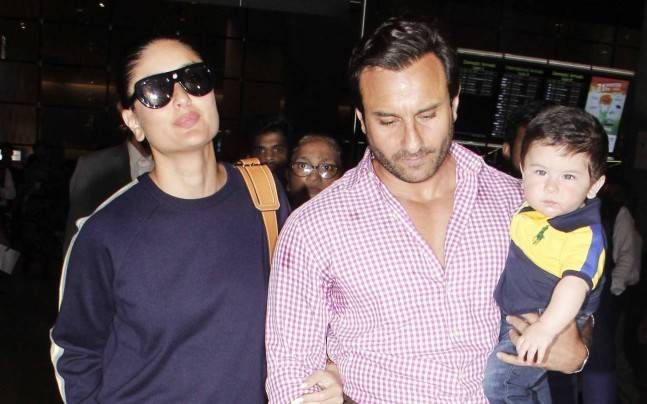 Saif Ali Khan with wife Kareena Kapoor and son Taimur