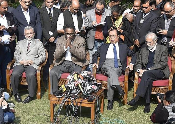 SC row: Four dissenting judges attend court; CJI Dipak