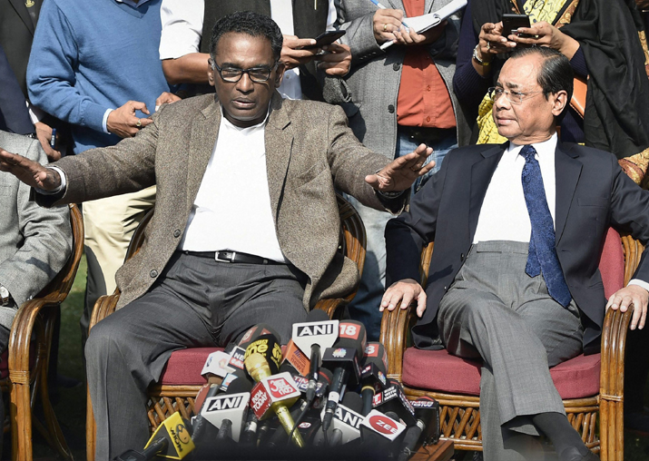 Supreme Court judge Jasti Chelameswar during a press