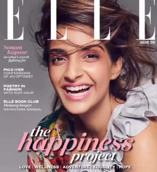 India Tv - Sonam Kapoor featured in Elle magazine