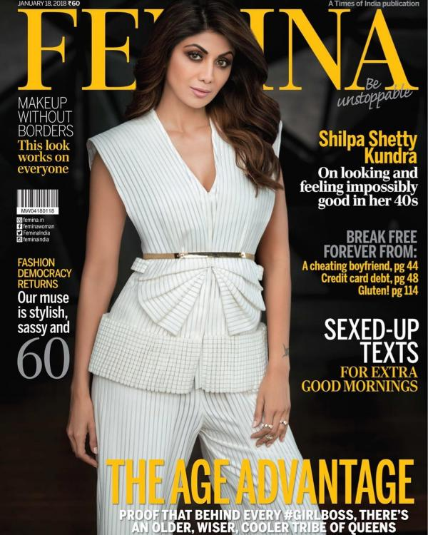 India Tv - Shilpa Shetty in Femina magazine