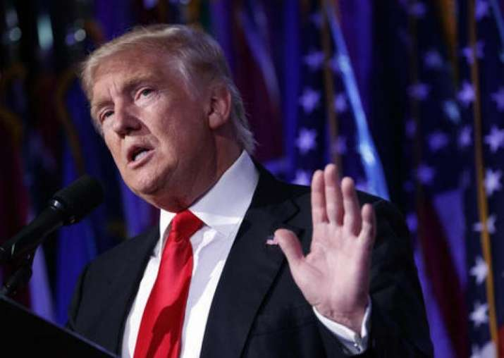 File photo of US president Donald Trump.