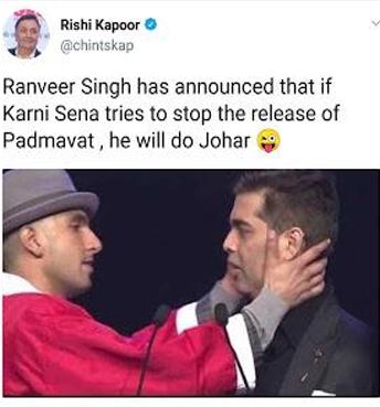 India Tv - Rishi Kapoor's tweet