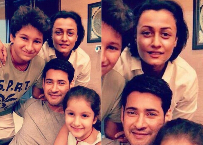 Superstar Mahesh Babu Posts An Adorable Family Picture On Wife