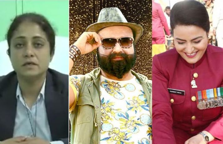 From left to right - Vipassana, Gurmeet Ram Rahim and