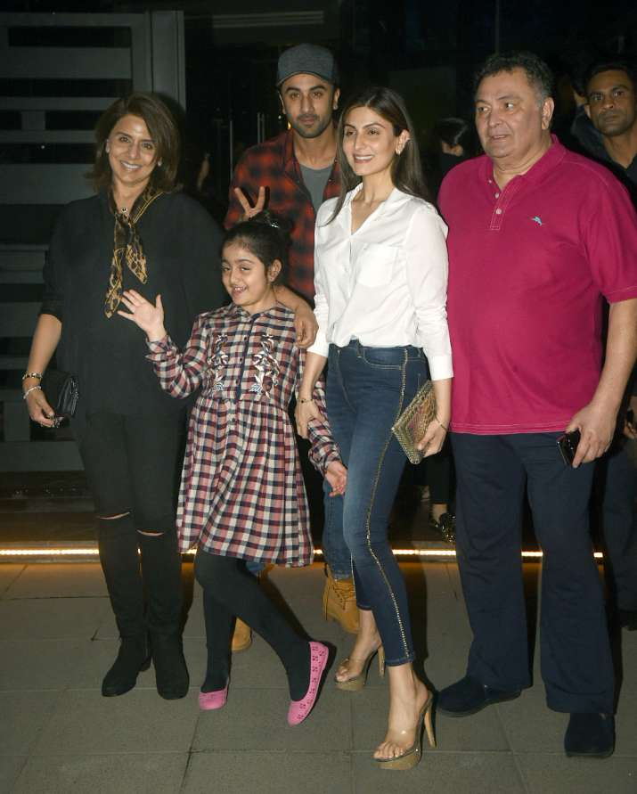 India Tv - Ranbir and family