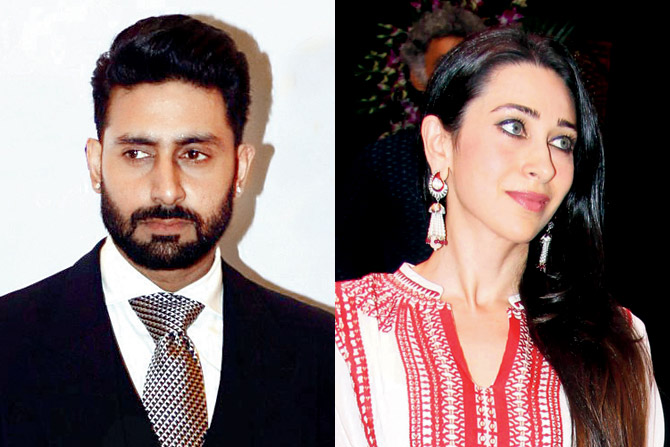 Karisma Kapoor Abhishek Bachchan at Mohit Marwah wedding in