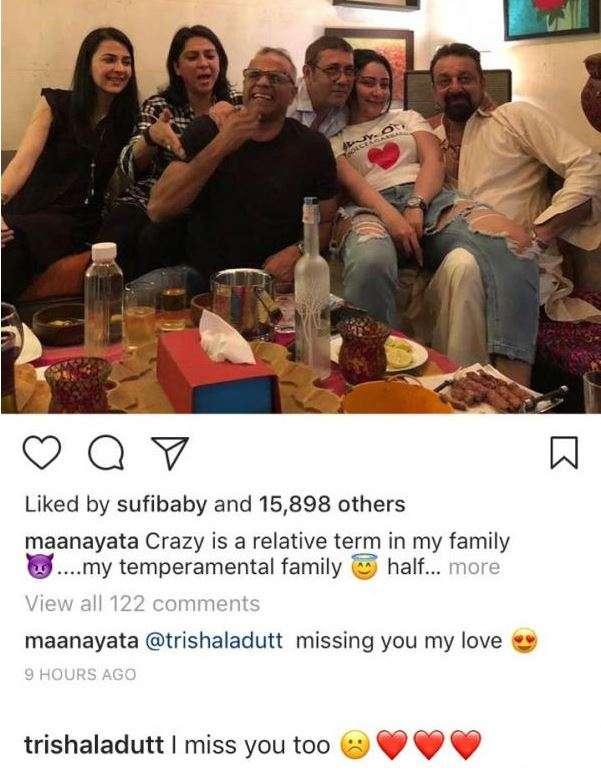 India Tv - Manyata Dutt Instagram