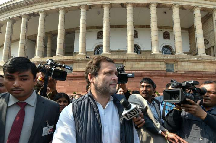 India Tv - Congress chief Rahul Gandhi criticised Budget 2018