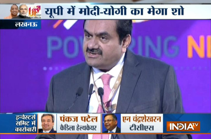 UP Investors Summit: Adani Group to invest Rs 35,000 cr in