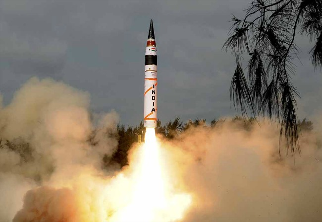 The trial of the surface-to-surface missile was conducted