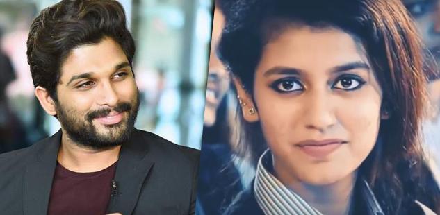 Telugu actor Allu Arjun in awe of Priya Prakash Varrier's viral