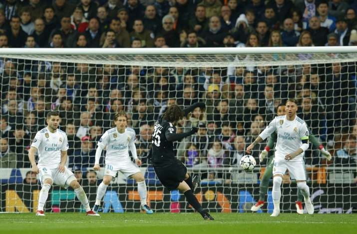 India Tv - Rabiot scores against Real Madrid in the UCL.
