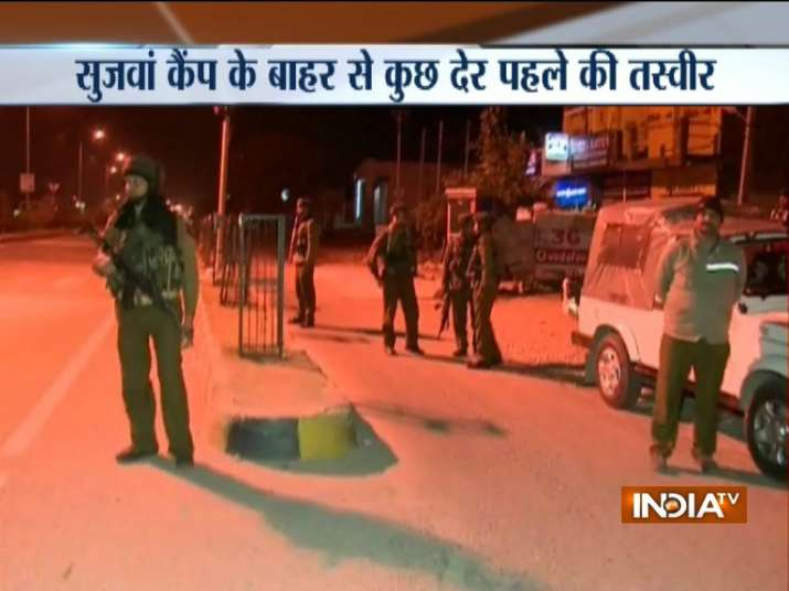 India Tv - Terrorists attack Army camp in Jammu and Kashmir's Sunjwan.