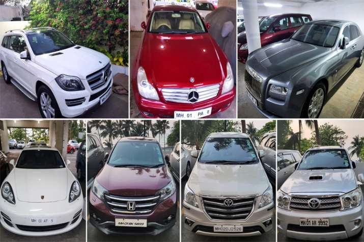 High-end luxury cars belonging to diamond businessman Nirav