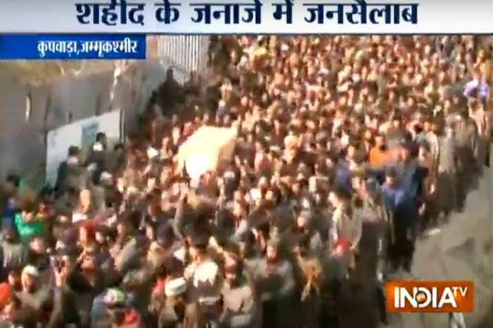 Watch: Thousands gather in Kashmir to give Sunjuwan attack