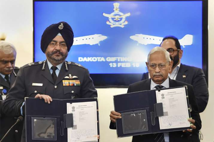 Air Chief Marshal B S Dhanoa with Air Commodore (retd) M K