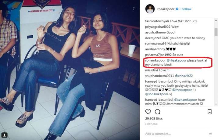 India Tv - Sonam Kapoor's comment on the picture