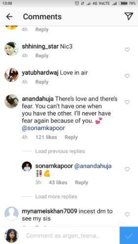 India Tv - Anand Ahuja's comment on Sonam Kapoor's Valentine's Day post.