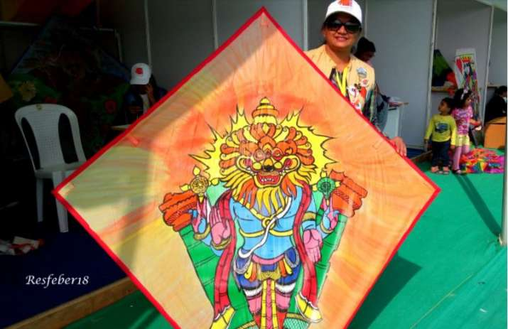 India Tv - In 2016, she used Hindu deities and their avatars on her kites.