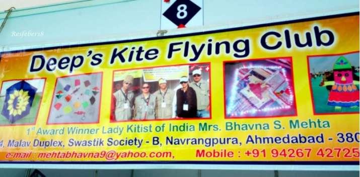 India Tv - Mrs Bhavna Shailesh Mehta is India's first woman kite flier who runs a club Deep Kite Flying Club in Ahmedabad