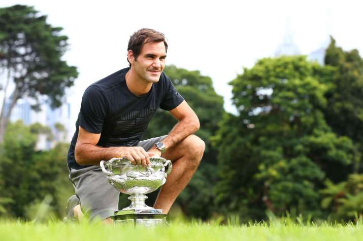 A file image of Roger Federer with the Australian Open