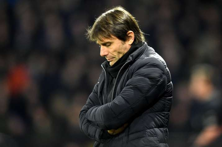 India Tv - Chelsea manager Antonio Conte reacts after conceding to Watford.
