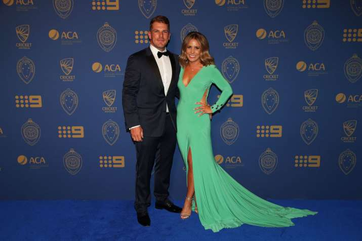 India Tv - A file image of Aaron Finch with his girlfriend Amy Griffiths.