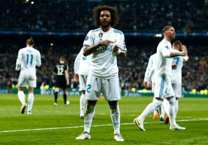 India Tv - Marcelo celebrates after scoring
