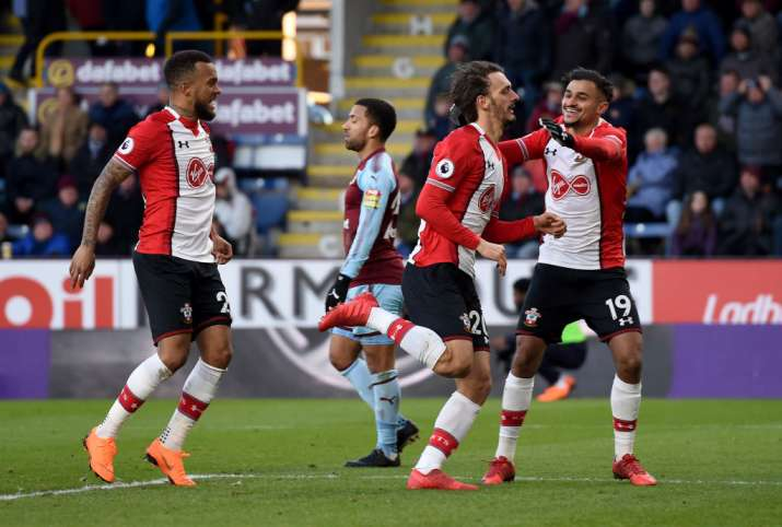 India Tv - Southampton players celebrate after scoring