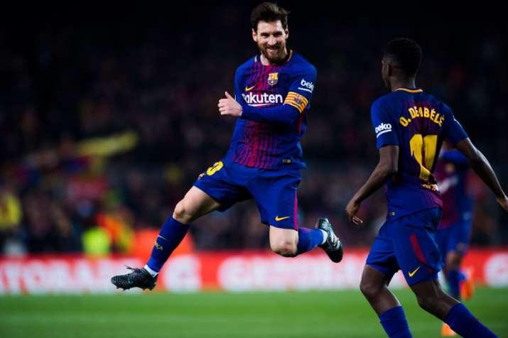 India Tv - Lionel Messi celebrates after scoring.