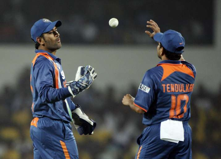 India Tv - MS Dhoni and Sachin Tendulkar