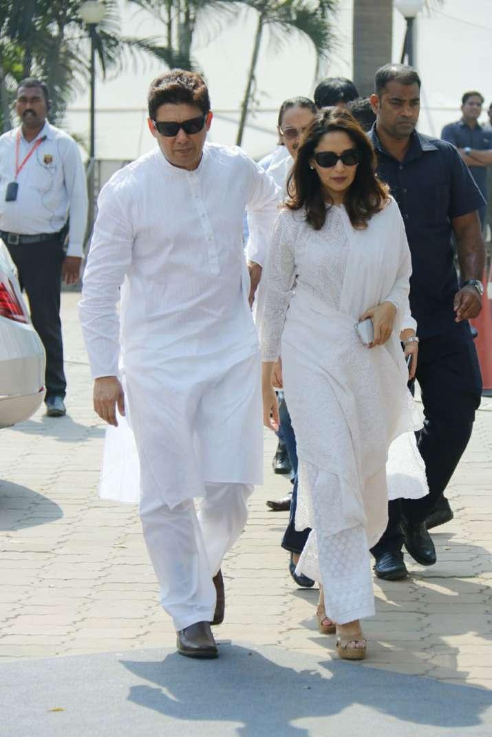 India Tv - Madhuri with husband