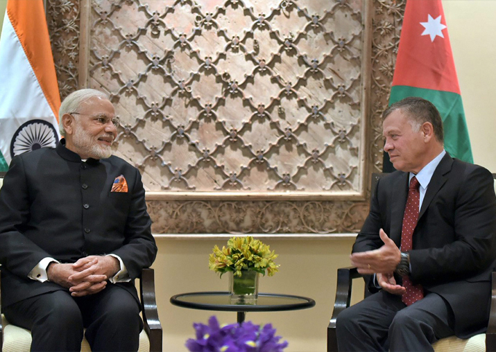 Prime Minister Narendra Modi with the King of Jordan