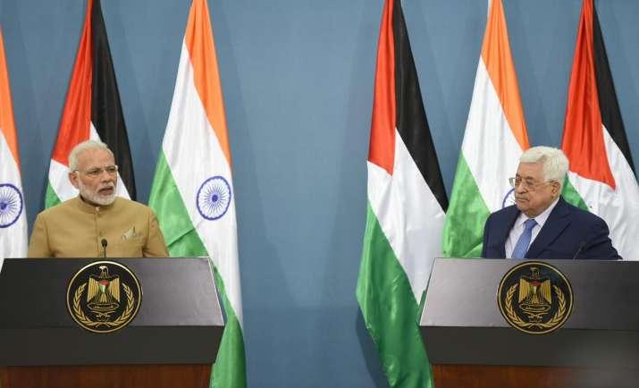 Prime Minister Narendra Modi and Palestine President
