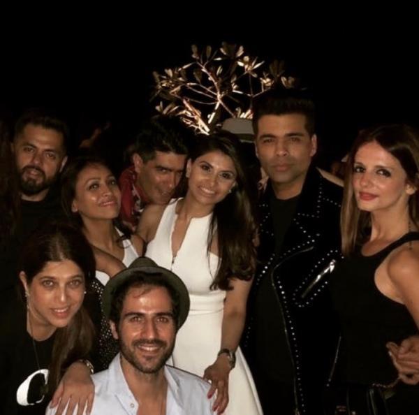 India Tv - Karan Johar party