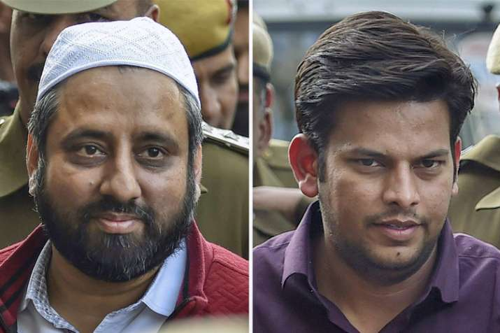 AAP MLAs Amanatullah Khan and Prakash Jarwal sent to