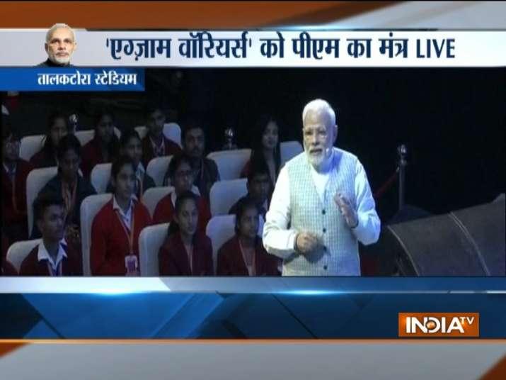 PM Modi holds Pariksha Pe Charcha with young students